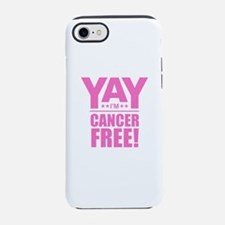 Cancer Free - Pink iPhone 7 Tough Case