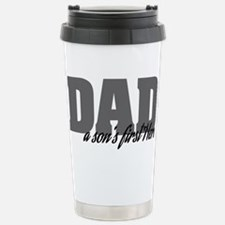 A Son's First Hero Travel Mug