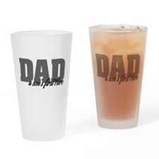 A Son's First Hero Drinking Glass