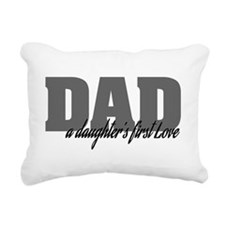 A Daughter's First Love Rectangular Canvas Pillow