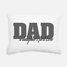 A Daughter's First Love Rectangular Canvas Pillow
