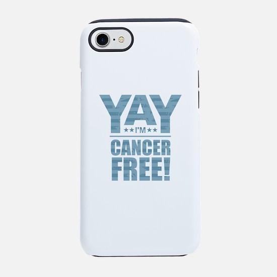 Cancer Free - Blue iPhone 7 Tough Case