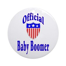 Baby Boomer Medal Ornament (Round)