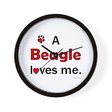 A Beagle Loves Me Wall Clock