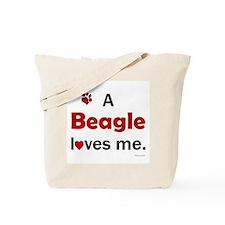 A Beagle Loves Me Tote Bag