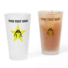 Wrestling Star (Custom) Drinking Glass