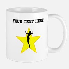 Volleyball Serve Silhouette Star (Custom) Mugs