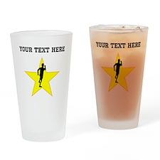 Runner Silhouette Star (Custom) Drinking Glass