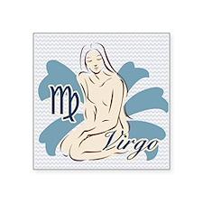"Zodiac Sign Virgo Symbol Ch Square Sticker 3"" x 3"""