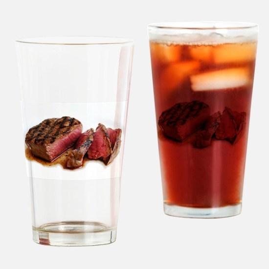Steak Drinking Glass
