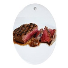 Steak Ornament (Oval)
