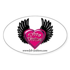 Diva Divine Oval Sticker by Fab Diva