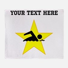 Swimmer Star (Custom) Throw Blanket