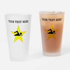 Swimmer Star (Custom) Drinking Glass