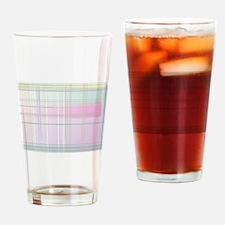 Pastel Plaid Drinking Glass