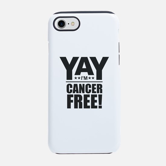 Cancer Free - Black iPhone 7 Tough Case
