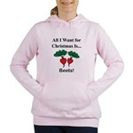 Christmas Beets Women's Hooded Sweatshirt