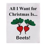 Christmas Beets Throw Blanket