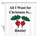 Christmas Beets Shower Curtain