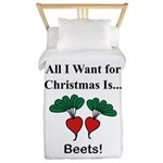 Christmas Beets Twin Duvet