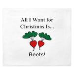Christmas Beets King Duvet