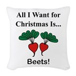 Christmas Beets Woven Throw Pillow