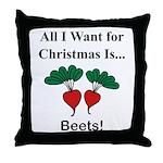 Christmas Beets Throw Pillow