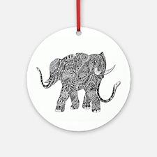 Snake-elephant Fantasy Indian Ink Ornament (Round)