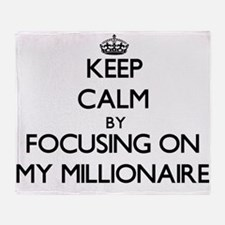 Keep Calm by focusing on My Milliona Throw Blanket