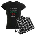 Christmas Beets Women's Dark Pajamas