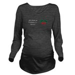 Christmas Beets Long Sleeve Maternity T-Shirt