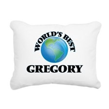 World's Best Gregory Rectangular Canvas Pillow