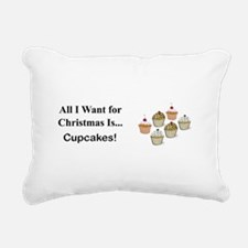 Christmas Cupcakes Rectangular Canvas Pillow