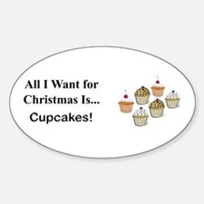 Christmas Cupcakes Decal