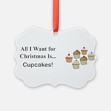 Christmas Cupcakes Ornament