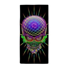 Crazy Skull Psychedelic Explosion Beach Towel