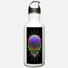 Crazy Skull Psychedelic Explosion Water Bottle