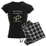 Christmas Cupcakes Women's Dark Pajamas