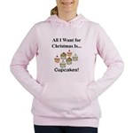 Christmas Cupcakes Women's Hooded Sweatshirt