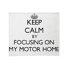 Keep Calm by focusing on My Motor Ho Throw Blanket