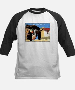 Vintage Macedonia Art Kids Baseball Jersey