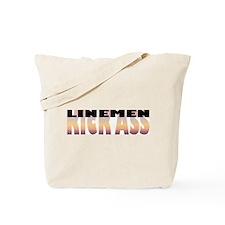 Linemen Kick Ass Tote Bag