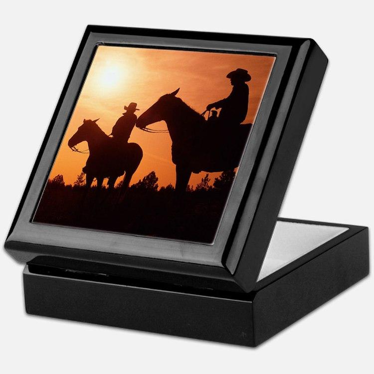 Western Riding at Sunset Keepsake Gift Box