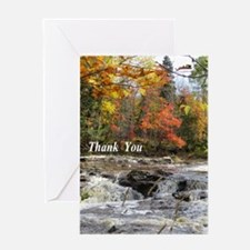 Rapids in Fall Greeting Cards