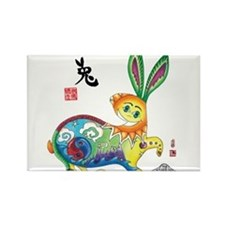 Cute Chinese year of the dog Rectangle Magnet