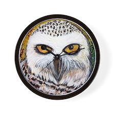 Snowy Owl by GG Burns Wall Clock