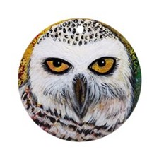 Snowy Owl by GG Burns Ornament (Round)