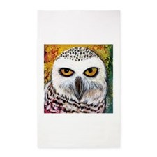 Snowy Owl by GG Burns 3'x5' Area Rug