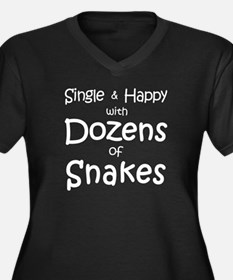 Single & Happy With Snakes Plus Size T-Shirt