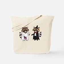 Raccoon Wedding Tote Bag
